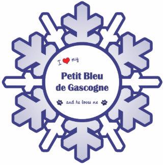 I Love My Petit Bleu de Gascogne (Male Dog) Photo Sculpture Ornament