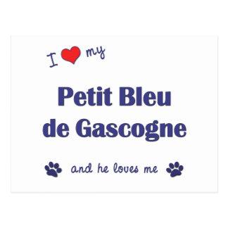 I Love My Petit Bleu de Gascogne (Male Dog) Postcard