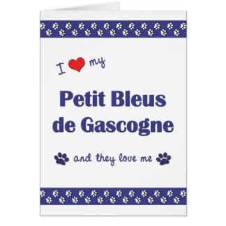 I Love My Petit Bleus de Gascogne (Multiple Dogs) Card