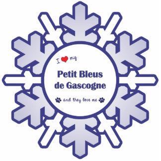 I Love My Petit Bleus de Gascogne (Multiple Dogs) Photo Sculpture Ornament