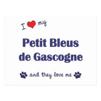 I Love My Petit Bleus de Gascogne (Multiple Dogs) Postcard