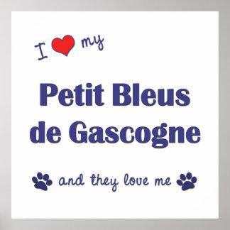 I Love My Petit Bleus de Gascogne (Multiple Dogs) Poster