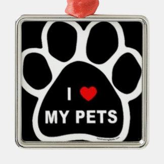 I Love My Pets Christmas Ornaments