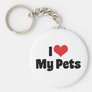I Love My Pets Keychain