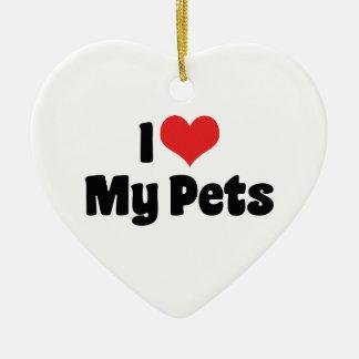 I Love My Pets Ornament