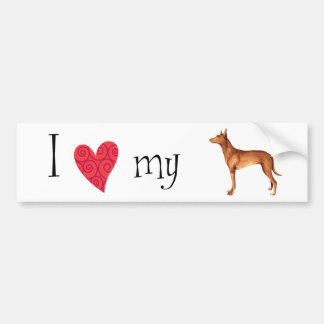 I Love my Pharaoh Hound Bumper Sticker