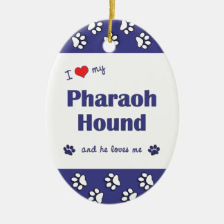 I Love My Pharaoh Hound (Male Dog) Ceramic Ornament