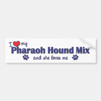 I Love My Pharaoh Hound Mix (Female Dog) Bumper Sticker