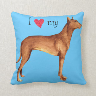I Love my Pharaoh Hound Throw Pillow