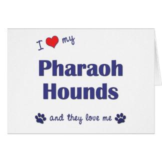 I Love My Pharaoh Hounds (Multiple Dogs) Card