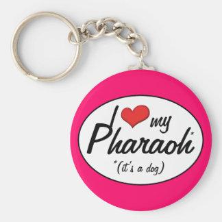 I Love My Pharaoh (It's a Dog) Keychain