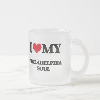 I Love My PHILADELPHIA SOUL 10 Oz Frosted Glass Coffee Mug