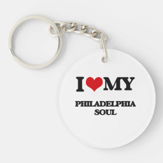 I Love My PHILADELPHIA SOUL Single-Sided Round Acrylic Keychain
