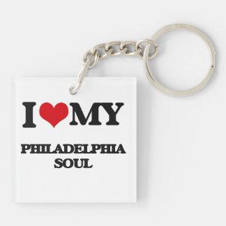 I Love My PHILADELPHIA SOUL Double-Sided Square Acrylic Keychain