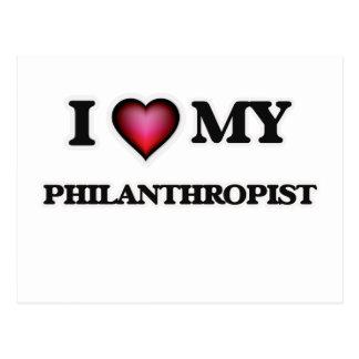 I love my Philanthropist Postcard