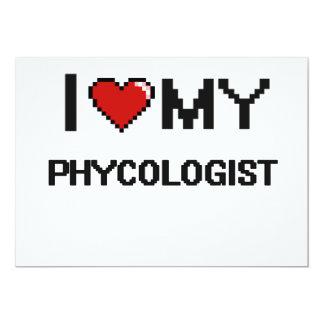 "I love my Phycologist 5"" X 7"" Invitation Card"