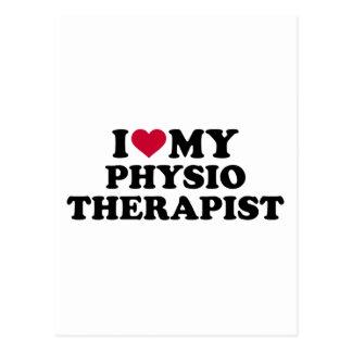 I love my physiotherapist postcard
