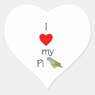 I Love My Pi (pic) Heart Sticker