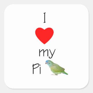 I Love My Pi (pic) Square Sticker