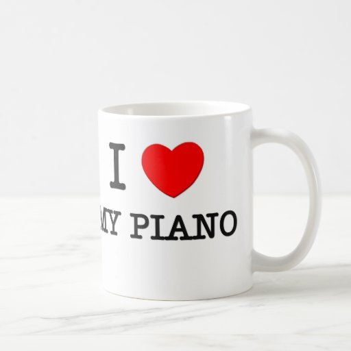 I Love My Piano Mug