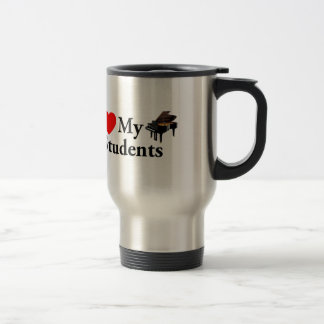 I Love My Piano Students 15 Oz Stainless Steel Travel Mug