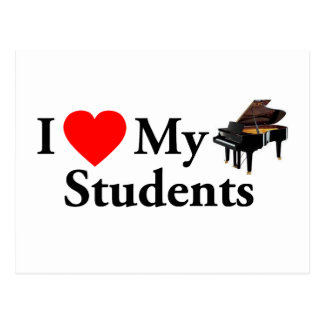 I Love My Piano Students Postcard