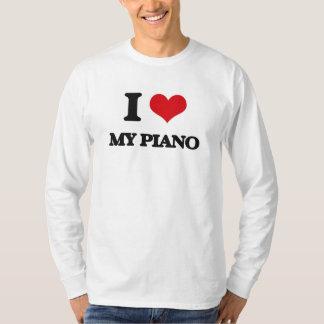 I Love My Piano T Shirts