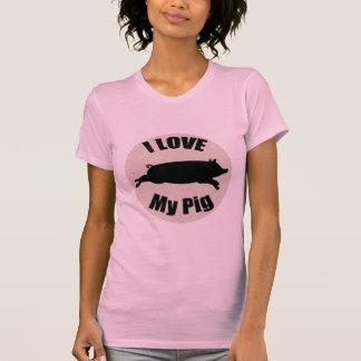 I Love My Pig Ladies Shirt