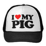 I LOVE MY PIG TRUCKER HAT