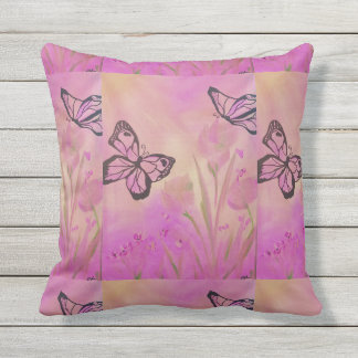 I love My Pillow!! Pink Butterfly's Outdoor Pillow