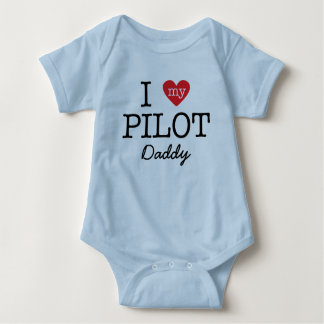 I Love My Pilot Daddy Baby Bodysuit