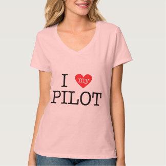 I Love My Pilot T Shirts