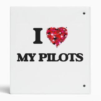 I Love My Pilots 3 Ring Binders