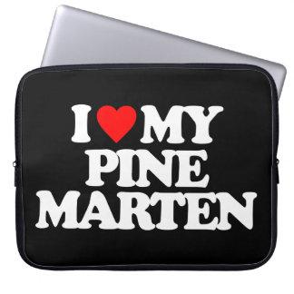 I LOVE MY PINE MARTEN LAPTOP COMPUTER SLEEVES