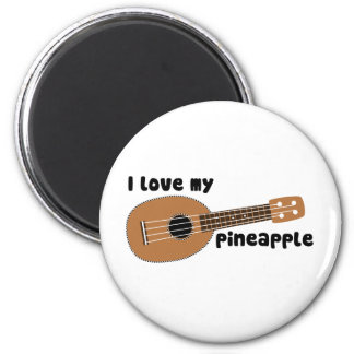 I Love My Pineapple Ukulele Magnet