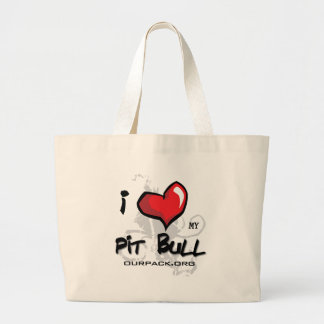 I Love My Pit Bull! Tote Bag