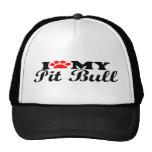 I Love My Pit Bull Hat