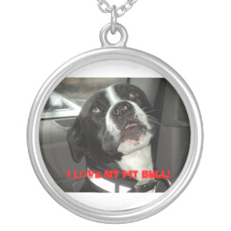 I LOVE MY PIT BULL! SILVER PLATED NECKLACE