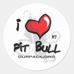 I Love My Pit Bull! Stickers