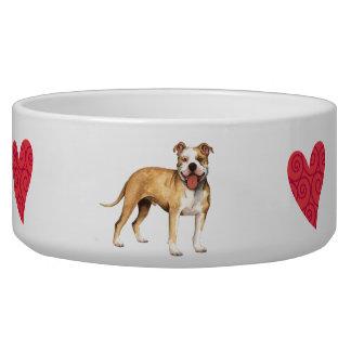 I Love my Pit Bull Terrier Bowl
