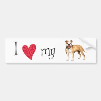 I Love my Pit Bull Terrier Bumper Sticker