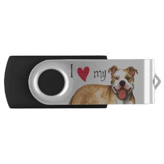 I Love my Pit Bull Terrier Flash Drive