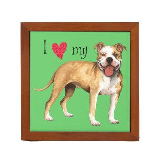 I Love my Pit Bull Terrier Pencil/Pen Holder