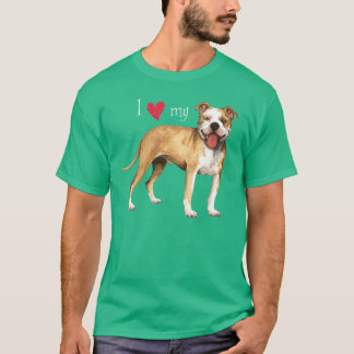 I Love my Pit Bull Terrier T-Shirt