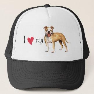 I Love my Pit Bull Terrier Trucker Hat