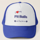 I Love My Pit Bulls (Multiple Dogs) Trucker Hat