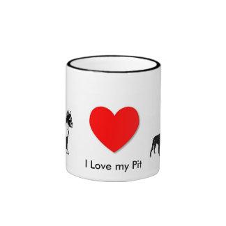 I Love my Pit Ringer Mug