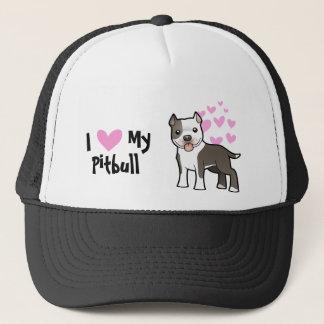 I Love My Pitbull / American Staffordshire Terrier Trucker Hat
