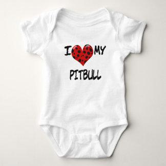 I love my Pitbull Baby Bodysuit