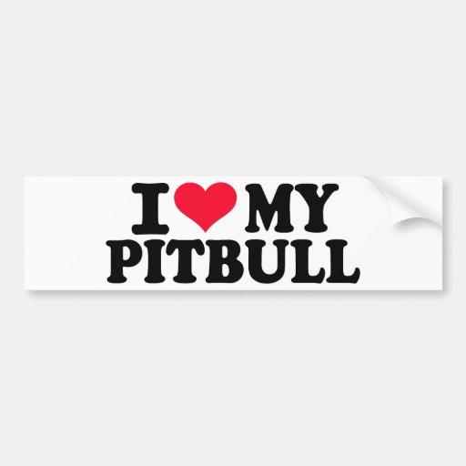 I love my Pitbull Car Bumper Sticker